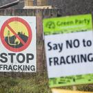 Signs at an anti-fracking camp near Kirby Misperton in Yorkshire (Danny Lawson/PA)