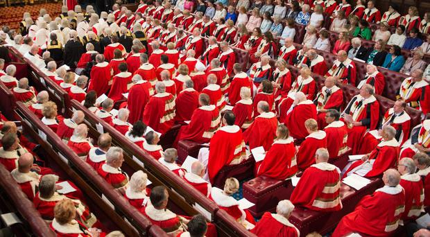 Peers in the House of Lords (Stefan Rousseau/PA)