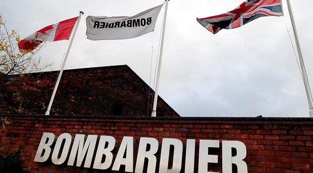 Bombardier employs around 4,500 people in Belfast (Rui Vieira/PA)