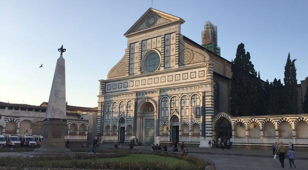 Santa Maria Novella church in central Florence which is the venue for Theresa May's crunch speech on Brexit (Arj Singh/PA)