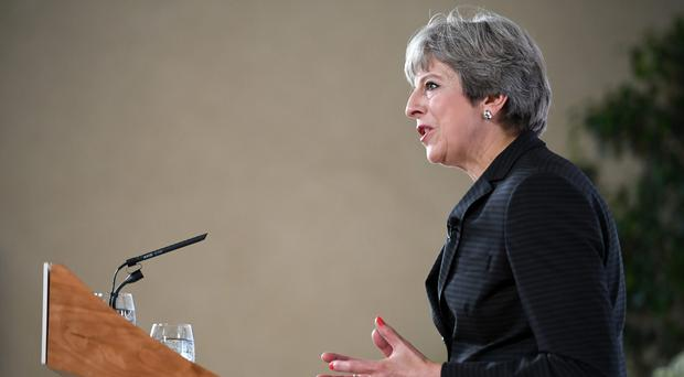 Prime Minister Theresa May delivers her speech in Florence (Jeff J Mitchell/PA)