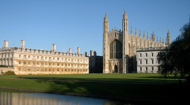 Cambridge University's Kings College and Clare College. (PA)
