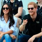 Prince Harry and Meghan Markle watch Wheelchair Tennis
