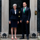 Prime Minister Theresa May with Taoiseach Leo Varadkar outside Downing Street