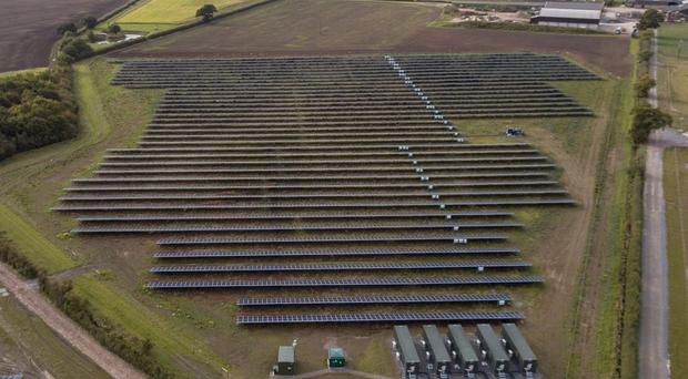 Clayhill solar farm will generate enough electricity for around 2,500 homes (Anesco/PA)