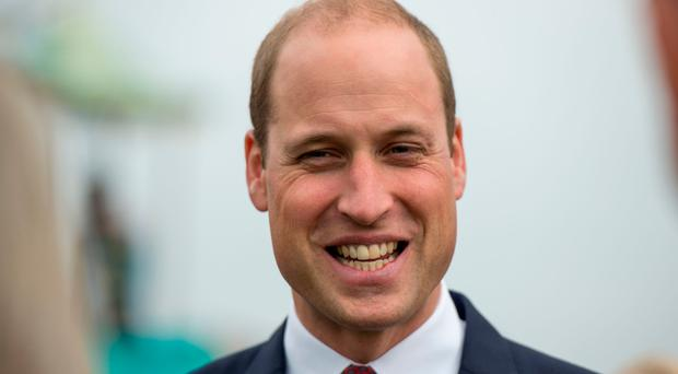 Laughing matter: Prince William