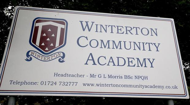 A sign for Winterton Community Academy in North Lincolnshire (Nigel Roddis/PA)