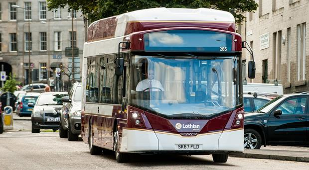 The first fully electric public buses to serve Scotland's capital have been unveiled as part of efforts to cut emissions by more than 40% (Wullie Marr/PA)