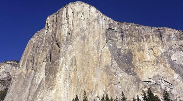 A British climber has been killed after a massive chunk of rock fell off Yosemite National Park's El Capitan monolith (Ben Margot/AP)