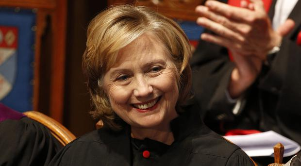 Hillary Clinton will be in Swansea on October 14 to collect the award (Danny Lawson/PA)