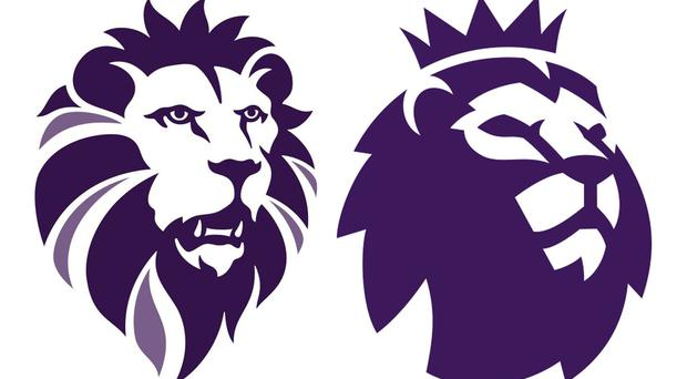The logo (left) of Ukip, which bears a close resemblance to the emblem (right) of football's Premier League (PA)
