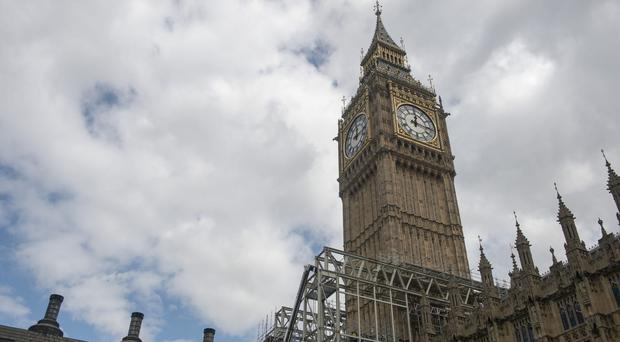 Repair costs for the Elizabeth Tower in the Palace of Westminster have now doubled to an estimated £61 million (Victoria Jones/PA)