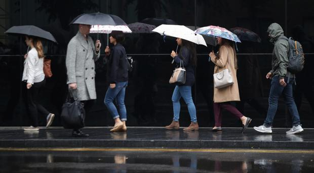 Bookies have cut the odds for the wettest October as heavy rain and gales forecast (Yui Mok/PA)