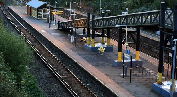 An empty Hunts Cross station in Liverpool (Peter Byrne/PA)