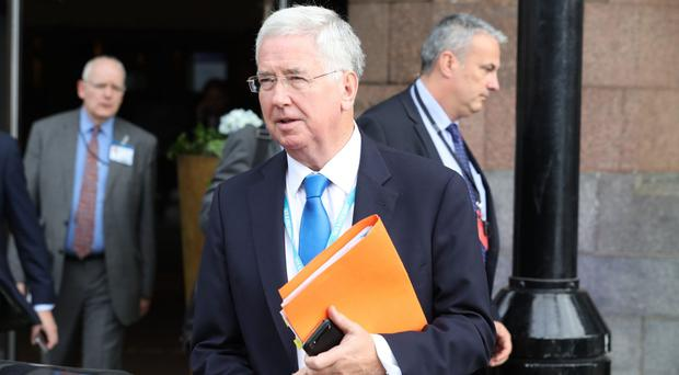 Sir Michael Fallon is urging a rise in British defence funding (Owen Humphreys/PA)