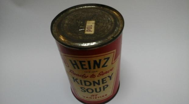 A 35-year-old tin of Heinz kidney soup was donated to a Cardiff foodbank (Cardiff foodbank/PA)