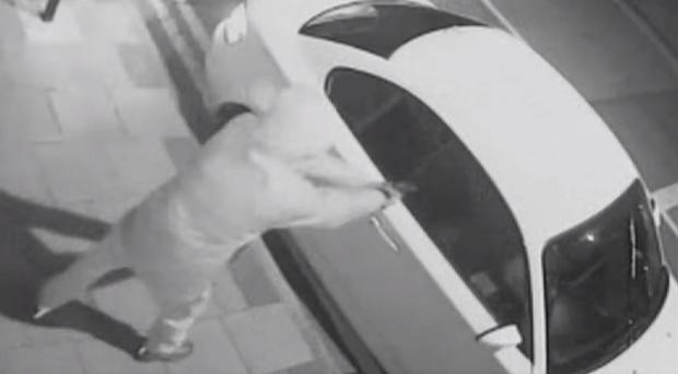 Still taken from CCTV of Chad Greatbatch firing a gun into a car (West Midlands Police/PA)