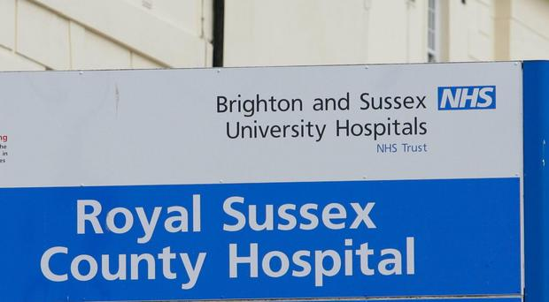 A 19-year-old man is being treated at the Royal Sussex County Hospital in Brighton after he was twice