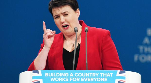 Scottish Conservative leader Ruth Davidson has dismissed the results of a poll which predicted her party will fall to third place at the next Holyrood election (Stefan Rousseau/PA)