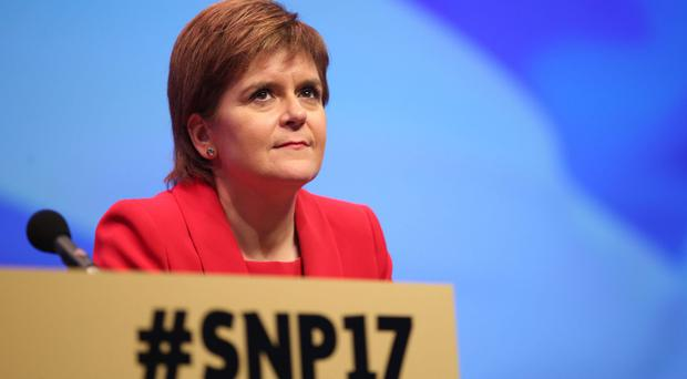 Nicola Sturgeon says the SNP still has a mandate to hold a second independence referendum before the next Holyrood elections in 2021 (Jane Barlow/PA)