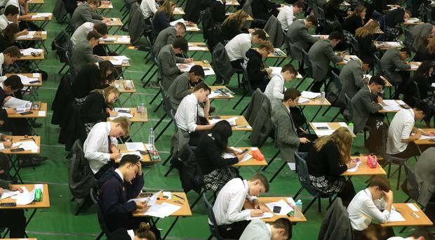 Examination board CCEA argues that the relatively small number of false grades given to GCSE and A-level pupils does not cast doubt on the integrity of its marking systems. (Stock photo)