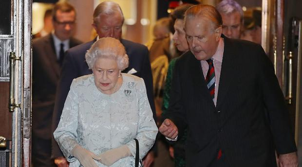 The Queen met a Bletchley Park veteran in a visit to the Army and Navy Club (Steve Parsons/PA)