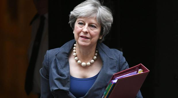 Government transparency data showed Theresa May received gifts of Stella McCartney items (Stefan Rousseau/PA)