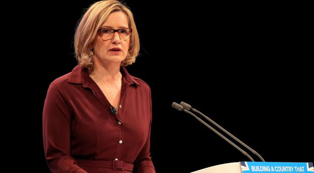 Amber Rudd said all forms of violent crime are totally unacceptable (Peter Byrne/PA)