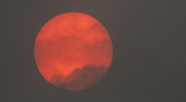 Red sun caused by Storm Ophelia (Neil Pugh - DecisiveImaging/PA)