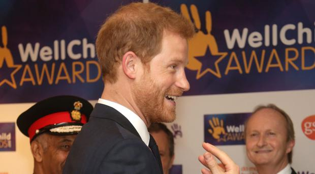 Prince Harry attends a reception at the annual WellChild Awards (Yui Mok/PA)