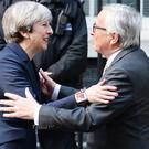PM meets Juncker: Brexit talks to 'accelerate' but little sign of progress shown (John Stillwell/PA)