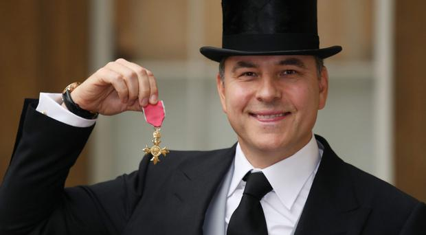 David Walliams was awarded an OBE for services to charity and the arts (Philip Toscano/PA)