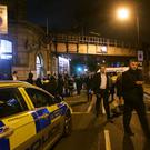 Police at the scene outside Parsons Green Tube station (Yui Mok/PA)