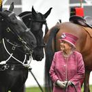 The Queen attends the King's Troop Royal Horse Artillery parade in Hyde Park (Dominic Lipinski/PA)