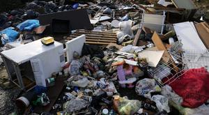 Incidents ranged from dumping bags of household waste, fridges and other white goods to construction rubble, tyres, asbestos and even animal carcasses (Chris Radburn/PA)