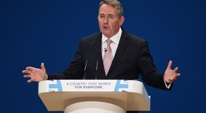 Secretary of State for International Trade Liam Fox. (Joe Giddens/PA)