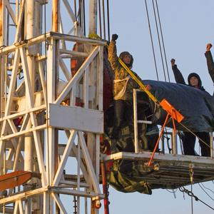 The protesters got into the site in the early hours of Saturday (Yorkshire's Fracking Frontline/PA)