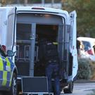 Police at the scene at Bermuda Park in Nuneaton (Aaron Chown/PA)