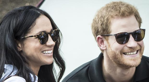 Meghan Markle with Prince Harry at the recent Invictus Games (Danny Lawson/PA)