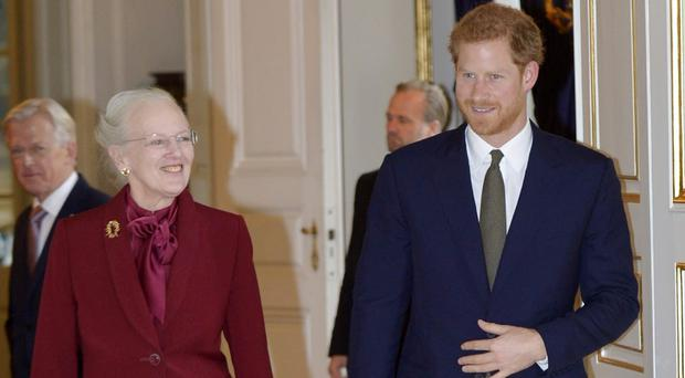 Harry meets Danish queen at start of two-day Copenhagen trip (Paul Edwards/The Sun/PA)