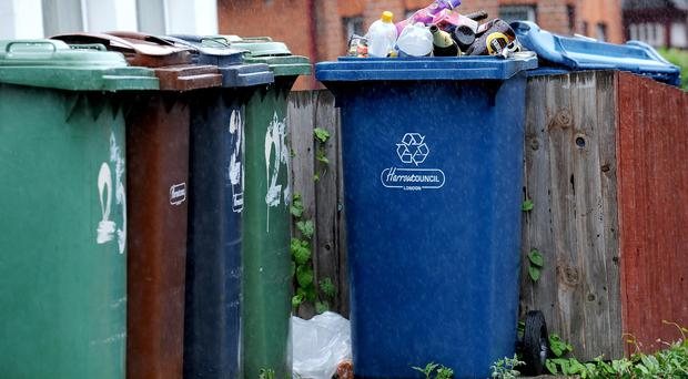 Bin collections in Antrim and Newtownabbey are set be privatised in a move that could see the loss of 50 jobs, it has been claimed. (Anthony Devlin/PA)