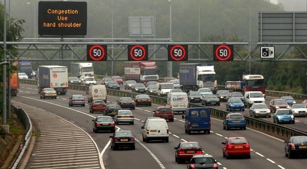 A total of 323.7 billion miles were driven on Britain's roads in 2016 (David Jones/PA)