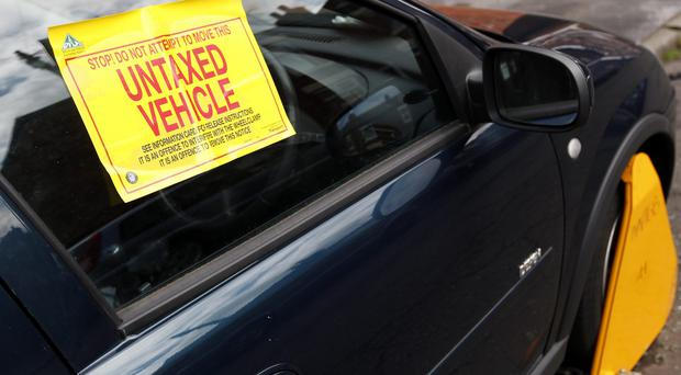 The campaign is targeting drivers who break the law by not taxing their car (Dave Thompson/PA)
