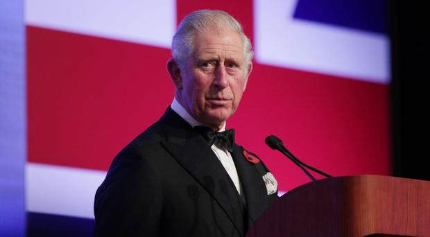 The Prince of Wales gives a speech as he attends a Gala Dinner to celebrate 60 years of UK/Malaysia diplomatic ties at the Majestic Hotel in Kuala Lumpa (Yui Mok/PA)