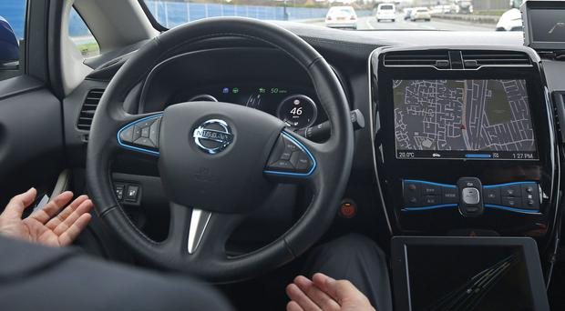 The market for driverless cars could be worth £28 billion to the UK by 2035 (Philip Toscano/PA)