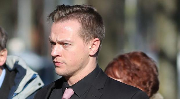 Matthew Scully-Hicks outside Cardiff Crown Court (Andrew Matthews/PA)