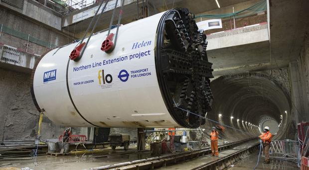 The giant boring machines have been working on the Northern line extension (TfL)