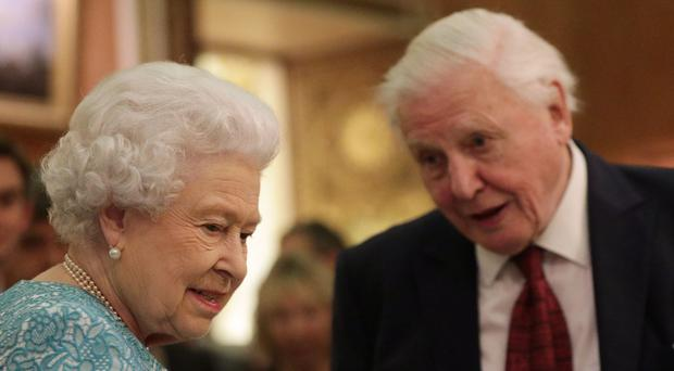 The Queen and Sir David Attenborough enjoy talking about a conversation project in a new ITN documentary (Yui Mok/PA)