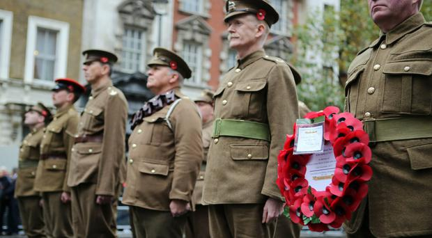 The Western Front Association's annual service of remembrance at the Cenotaph, Whitehall (Rick Findler/PA)