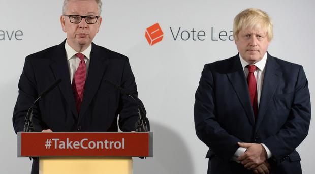 Michael Gove and Boris Johnson. (Stefan Rousseau/PA)